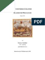 Filología Clásica. Bibliografía - GINDHART, M. (1999)