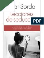 Lecciones de Seduccion Pilar Sordo