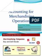Accounting for Merchandising Operations slides/presentation