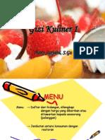 Materi Gizi Kuliner