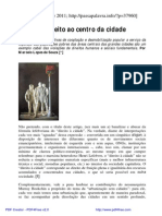 O Direito Ao Centro Da Cidade - Souza, Marcelo Lopes De