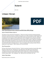 Untaian Hikmah _ Kajian Islam Al-Mubarok