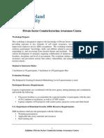 PSCT Course Outline