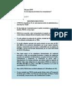 Proyecciones de PDVSA Para 2015