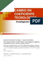Analisis Sensibilidad Cambio en Coeficientes Tecnologicos relajao