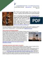 OMILO  Newsletter Christmas 2014