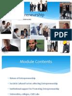 Module 1- Foundations of Entrepreneurship