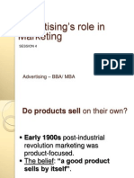 Advertising's Role in Marketing - Society Copy COMPLETE