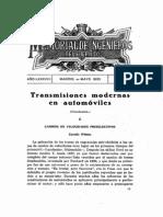 Transmisiones modernas en automóviles