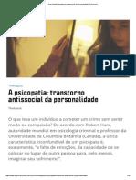 A Psicopatia_ Transtorno Antissocial Da Personalidade _ Discovery