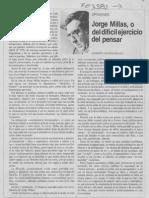 Giannini sobre Jorge Millas