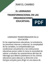 Liderar El Cambio en La Educación