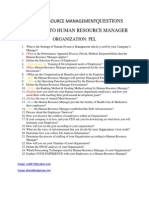 Human Resource Management Questions