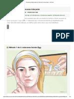 4 Maneiras de Fazer Todas as Máscaras de Rosto Natural - WikiHow
