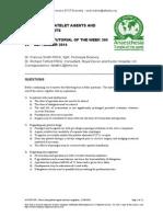 309 Novel Anti-platelet Agents and Anticoagulants