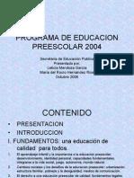 Programa de Educacion Preescolar 2004