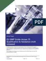 Mkt Wpr229 EU GMP Annex 15 Qualification and Validation