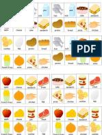 Food Bingo Cards