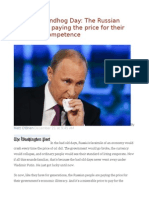 Putin's Groundhog Day the Russian People Keep Paying the Price for Their Leaders' Incompetence