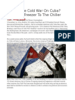 Ending the Cold War on Cuba From the Freezer to the Chiller