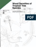 Wood Densities of Tropical Tree Species