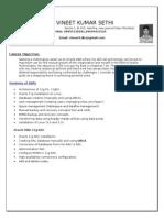 Vineet Sethi-CV-Oracle DBA With RAC