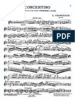 Chaminade - Concertino for Flute and Orchestra Op. 107 Flute and Piano