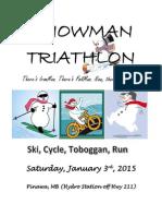 Snowman Triathlon Poster