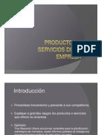 Productos o Servicios de Una Empresa