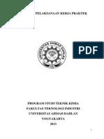 Panduan Pelaksanaan Kerja Praktek Teknik Kimia UAD