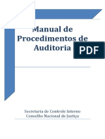 Manual de procedimentos de auditoria Sci Cnj 2014