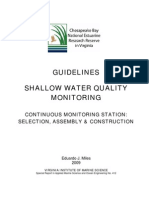 Guidelines for Shallow Water Quality Monitoring - Continuous Monitoring Stations