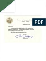 Florida Lieutenant Governor Commendation to Aaron Slavin