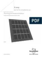Instruction Sheet. Manual de instalación d epneles solares