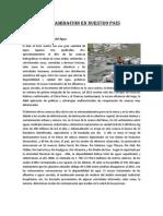 Contaminacion en Nuestro País