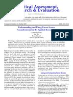 Understanding and Using Factor Scores