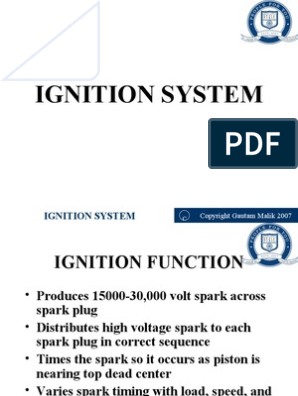 Ignition System | Ignition System | Distributor