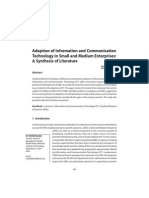 Sri Lanka Adoption of Information and Communication Technology in Small and Medium Enterprises- A Synthesis of Literature