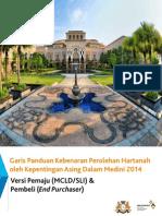 Garis Panduan Kebenaran Perolehan Hartanah Oleh Kepenting Asing Dalam Medini (2014)