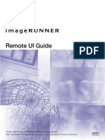 Canon MFP Remote UI Guide
