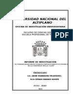 """INFORME FINAL EL TURISMO RURAL MISTICO PARA EL FORTALECIMIENTO ECONOMICO DE LA COMUNIDAD  MULLA - ILAVE"""".doc"""