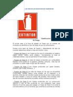 Manual de Uso de Un Extintor de Incendios