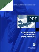 La Conservación Preventiva Para Archivos en La Serena