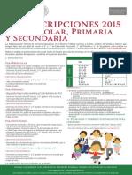 Cartel Preeinscripciones 2015