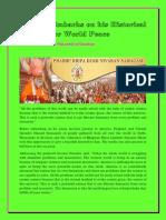Gurudev Embarks on His Historical Journey for World Peace