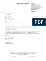 Florida Senate Commendation Letter for Aaron Slavin
