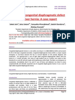 Right sided congenital diaphragmatic defect with liver hernia