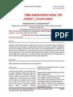 "Soft tissue ridge augmentation using ""roll technique"" – A case report"