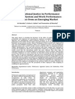 Organizational Justice in Performance Appraisal System and Work Performance