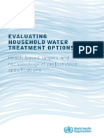 Evaluating Water Treatment